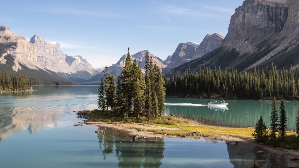 Spirit Island on Maligne Lake