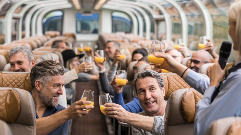 A welcome toast onboard GoldLeaf Service.